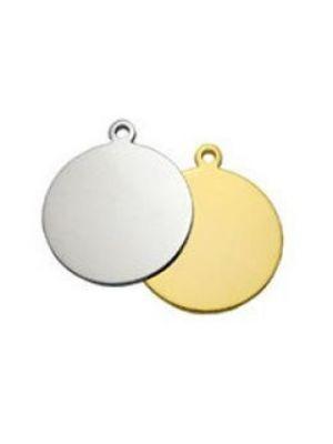 Circle Rhodium Gold