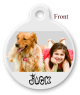 Front Designer Pet Tags with Your Own Image
