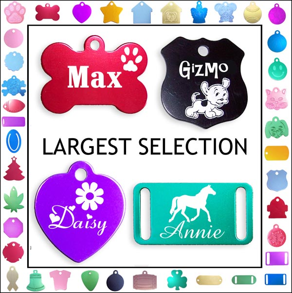 aluminum double sided pet tags